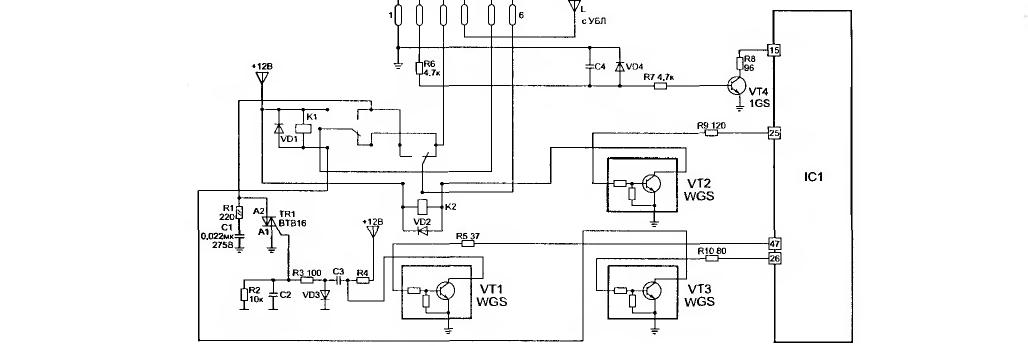 Элементы управления приводным