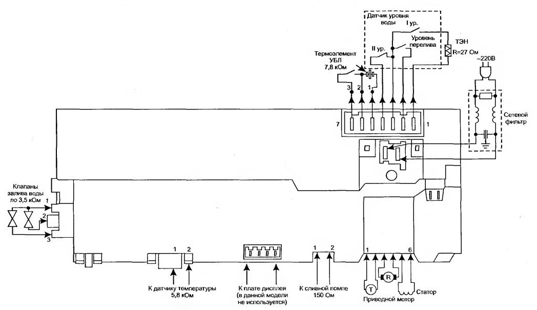 Схема электронного модуля стиральной машины bosch